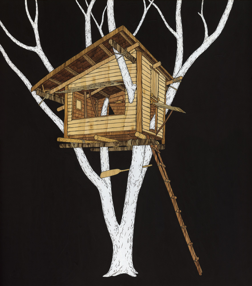 """Okay let's meet in the big tree in your thoughts"". The treehouses of Moki."