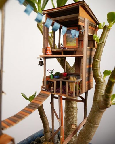 Beam yourself into this whimsy treehouses