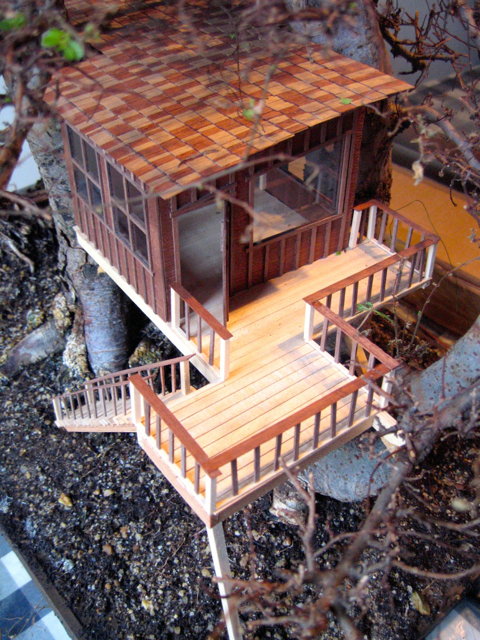 This treehouse doesn't require much space